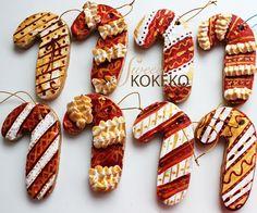 Galletas Navidad 2014 - Bastones de Caramelo Christmas Cookies 2014 - Candy Canes http://www.sweetkokeko.com