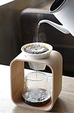 pour-over coffee station with glass carafe - Coffee Maker - Ideas of Coffee Make. - pour-over coffee station with glass carafe – Coffee Maker – Ideas of Coffee Maker - Coffee Cafe, Coffee Drinks, Coffee Gifts, Drip Coffee, Coffee Barista, Coffee Shops, Coffee Shop Japan, Cup Of Coffee, Coffee Tables