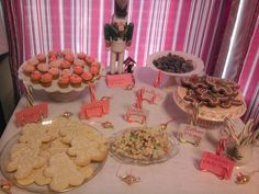 Nutcracker Party dessert table.