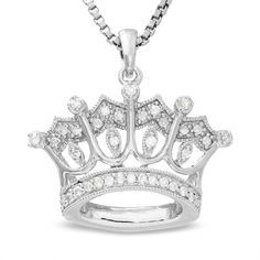 19 99 Disney Sterling Silver Princess Crown Pendant