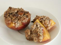 "peach ""cobblers"" (made with almond flour)"