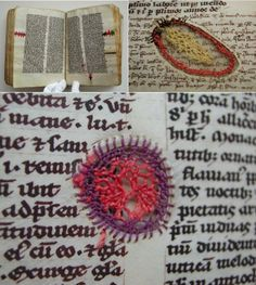 A Swedish medieval parchment book mended with silk thread by nuns in 1417