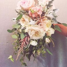 Late night consult with lots of great conversation and this soft little cascade bouquet sample made for an adorable bride to be.