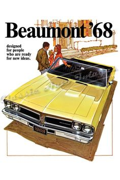 """1968 Pontiac Beaumont Sport Deluxe """"The New Kind of Automobile"""" #Brochure"""