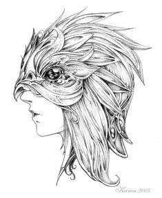 Bird mask concept