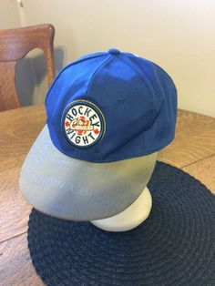 7a48143969fa8 Hockey Night in Canada LOGO Snap Back Blue  Grey w printing on Brim  Budweiser