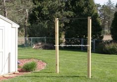 Homemade Outdoor Pullup Bar. For about $69 you can workout in the sunshine.