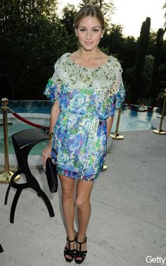 Olivia Palermo in floaty florals at Cannes