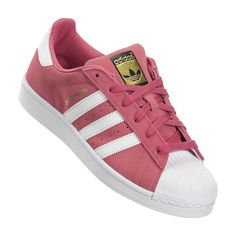 Adidas Superstar 又有新色粉紅 x 金標 Size: 35.5 / 36 / 36.66 / 37.33 / 38 / 38.66…