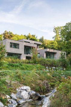 Monolith housing complex in Meilen/ THINK Architecture