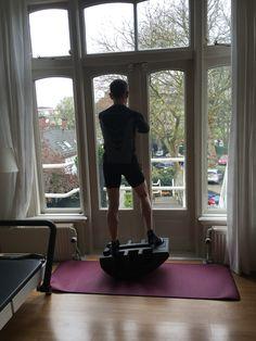 Cyclist works on balance pre-season