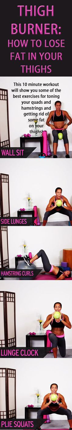 Thigh burner: how to lose fat in your thighs! #thighworkout #thighexercise #legworkout #thightoning #weightloss #fatburn