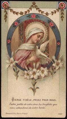 Holy Card Heaven . . . Vierge fidele.