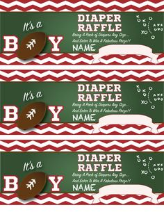 Great Baby Shower Idea! Football Themed Co Ed Shower!