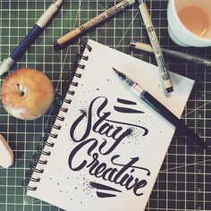 With 2015 just a couple of hours away lets 'Stay Creative' - 92//365 #type #type365 #typechallenge #typeday #thedailytype #thegrind #goodtype #typelove #nye #newyear #2015 #inspire #inspiration #design #creative #designtip #instagram #instatype #instaquote #bestoftheday #quoteoftheday #picoftheday #pic #words #wisdom #enjoy #mnliable #swirls