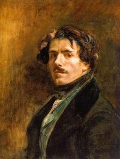 Eugene Delacroix  Self-Portrait.  (26 April 1798 – 13 August 1863) was a French Romantic artist regarded from the outset of his career as the leader of the French Romantic school.