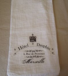 French Hotel Kitchen Towel by Jolietote on Etsy, $8.00