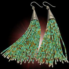 Elegant Multi-Strand Turquoise Heishe Dangle Earrings - Earrings - Jewelry