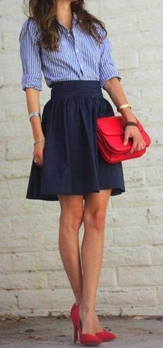 The imitation leather skirt - a top trend for spring and summer - Archzine.fr - ts ts - - La jupe simili cuir - une tendance top pour le printemps et l'été - Archzine.fr The faux leather skirt - a top trend for spring and summer - Casual Work Outfits, Mode Outfits, Office Outfits, Work Attire, Skirt Outfits, Fashion Outfits, Womens Fashion, Fashion Trends, Outfit Work
