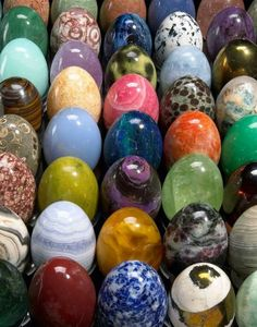 mineralists:  A collection of 850 mineral eggs carved in the renowned gem-cutting center of Idar-Oberstein, Germany.