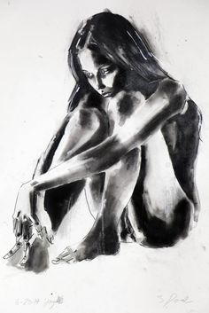 6-28-14 figure, Ink drawing by Thomas Donaldson | Artfinder