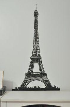Paris themed bedroom.