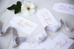 My first little sneak peek at an amazing wedding stationery job I've worked on the past 6 months plus. Their wedding is next weekend and… Calligraphy Name, Calligraphy Envelope, Name Cards, Thank You Cards, Wedding Favors, Wedding Day, Wedding Events, Bar Menu, Tent Cards