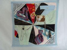 Herdenkings-quilt / patchwork gemaakt van de kleding van de overleden personen.