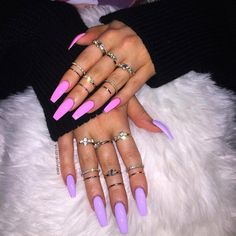 Tired of spending your time with your nails? Do you want most beautiful nail styles? The easiest and most practical nail styles for your nails here. colorful nails, nail styles, models of nail. Bright Summer Acrylic Nails, Summer Nail Polish, Bright Nails, Purple Nails, French Nails, Nail Art Designs, Nails Design, Nails First, Nagel Gel