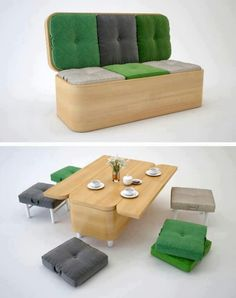 Space saving kitchen & chairs