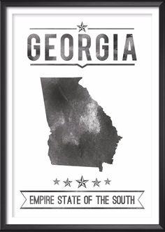 Georgia State Typography Print