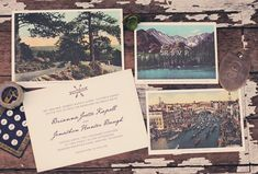 In the Shop: The Vintage Postcard Inspired Invitation Suite