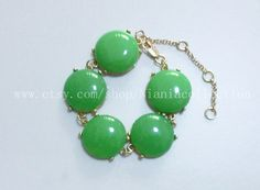 Olive Green  Bubble  Bracelet-mint green. $20.00, via Etsy.