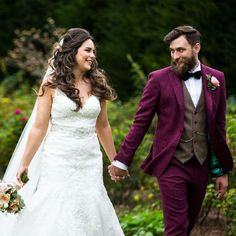 @whitfieldandward posted to Instagram: BESPOKE SUIT INSPIRATION - Tom's burgundy & Brown tweed suit is still one of our firm favourites!  This is the perfect time to start researching your bespoke suit ideas!  Thank you for creating this beauty @hurstafus & @twiggynibs  Image captured by @mrxmrsw ___________________________________________  #weddingsuit #menssuits #menstyleguide #groomstyle #gqstyle #dapperlydone #tailoredsuit #groominspiration #menslaw #weddinginspo #peakyblindersstyle…
