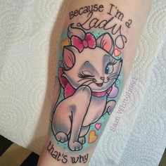 Done by artist @samwhiteheadtattoos #disneytattoos #disneytattoo #disneytatts #disney #tattoos #aristocats