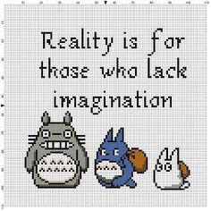 Totoro Reality is for those who lack by SnarkyArtCompany on Etsy