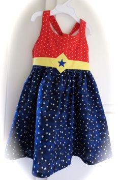 Wonder Woman Toddler Dress