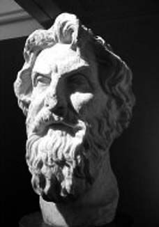 Aristarchus of Samos (310 BCE – ca. 230 BCE). I chose a sculpture of Aristarchus because I couldn't find one of him and his partner together. Aristarchus and Heraclides calculated the distances from the earth to the moon and the sun. They also discovered the the earth is round and revolves around the sun. The Hellenistic Age had some very brilliant people that made quite a few discoveries that wouldn't be believed for another two thousand years.
