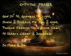 Empaths prayer...