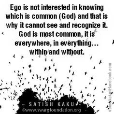 For ego everything is common and there is you and me with yours and mine. Recognise what is dividing you from your own self.