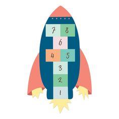 Habillez vos sols de façon originale grâce à ce sticker marelle pour enfant ! Avec son design unique et ses belles couleurs, il amusera les petits, tout en décorant leur chambre. Cesticker de sol en forme de fuséea été pensé pour que les enfants ne glissent pas en jouant dessus. Il est idéal pour compléter une décoration colorée ou sur le thème de l'espace.  2 Formats Disponibles