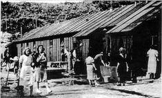 Communist women in concentration camp Schoorl, the Netherlands.