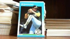 FLEER 1987 BILL MOONEYHAM CARD# 399 OAKLAND ATHLETICS.
