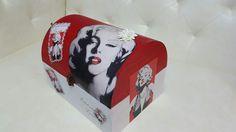caja en decoupage de Marilyn