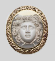 Cameo with head of Medusa, Roman, Imperial Period, 2nd–3rd century A.D.