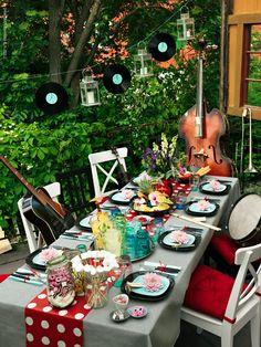 Rockabilly Table Decoration Ideas
