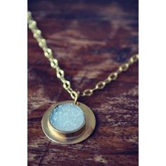 HARVEST MOON Handcrafted Druzy Necklace