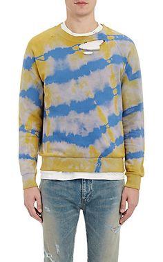 Saint Laurent Tie-Dyed Distressed Sweatshirt - Pullover - Barneys.com