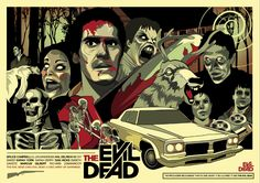Evil Dead poster I designed. Evil Dead Trilogy, Evil Dead Series, Evil Dead 1981, Ash Evil Dead, Horror Films, Horror Art, Scary Movies, Great Movies, Unique Poster