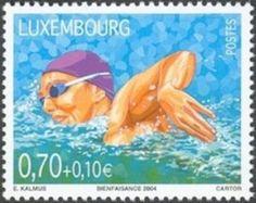 Sello: Swimming (Luxemburgo) (Sport) Mi:LU 1656,Sn:LU B443,Yt:LU 1605,WAD:LU018.04